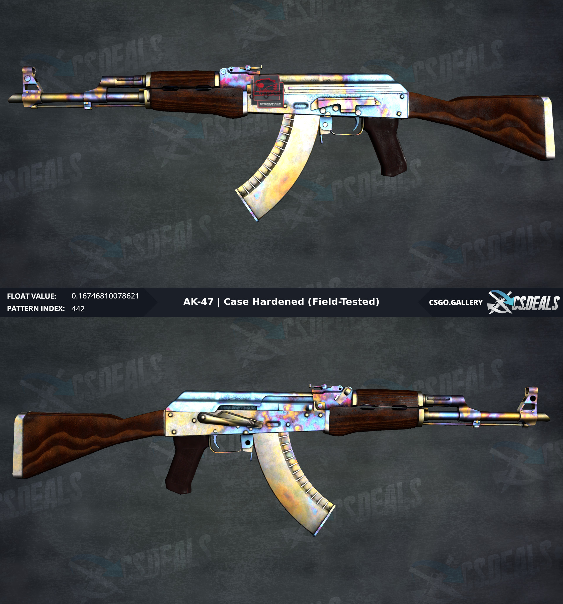 H] FT AK case Hardened, (#442, 0 17 (full blue butt) ) [W] 3